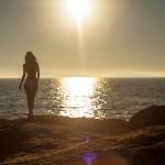 Lucía la playa y el Sol