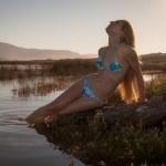 Sirena varada en la playa