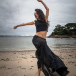 Danza en la playa de Santa Cruz