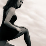 Modelos de piernas largas y medias negras