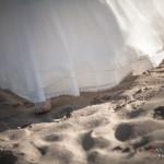 Descalza en la arena