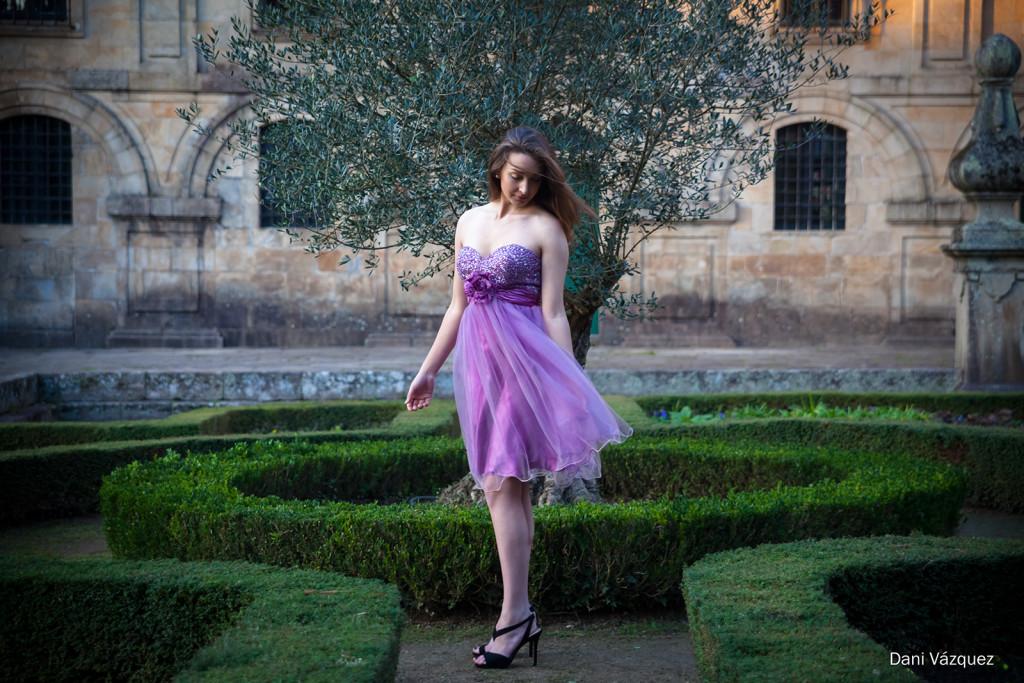 Silvia en el jardín