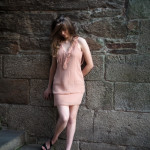 Vestido corto flecos