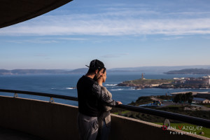 A Coruña desde el mirador de San Pedro