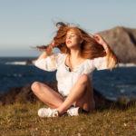 Melena al viento faro de Meirás - Valdoviño