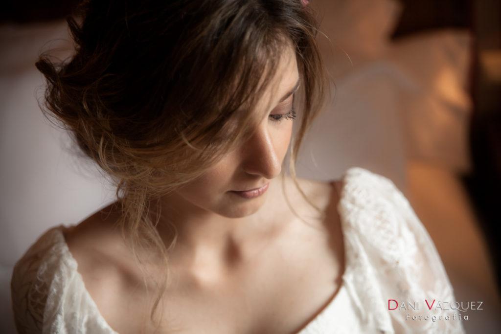 La novia con vestido de Bouret