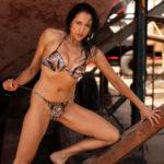 Pose en bikini en Lorbé - Oleiros
