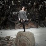 Xisela en la roca