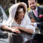 Sesión de boda en el coche