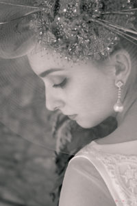 Foto novia en blanco y negro