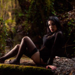 Medias negras en el bosque