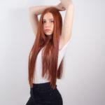Paula, modelo pelirroja
