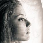 Retrato estudio con sombras