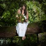 Retrato con ramo de flores Coruña
