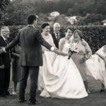 Atrapado en el velo de la novia