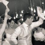 Fiesta en el convite de la boda