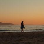 Sesión de fotos durante la puesta de sol