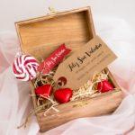 Caja regalo y bombones