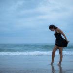 Vestido en la playa
