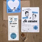 Invitaciones bodas gay Coruña DIY