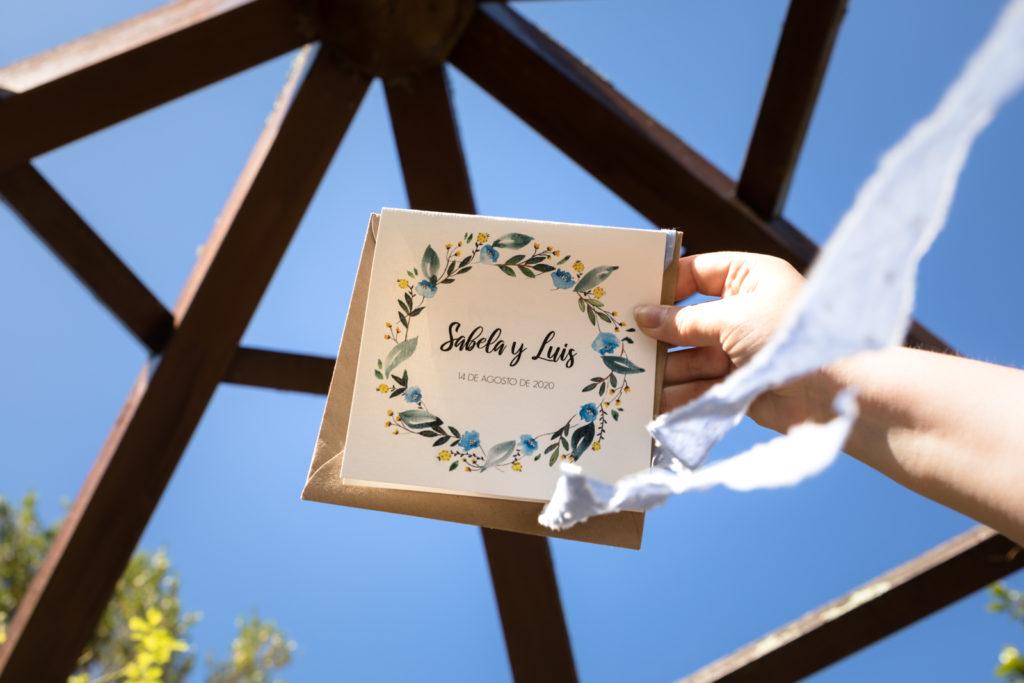 Invitaciones de boda originales hechas a mano en Galicia