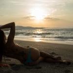 Atardecer en la playa de Repibelo Coruña