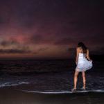 Fotos en la playa de noche