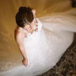La novia en el salón de baile