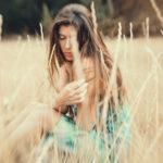 Verano en la hierba con lensbaby