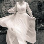 Vestido de novia con vuelo