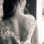 Vestido escotado por la espalda