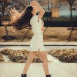 Melena en el viento