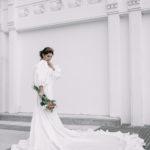 Vestidos de novia con larga cola