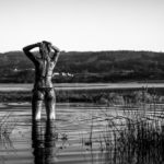 Barro y lodos en la laguna en bikini