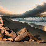 Atardecer en la playa de Baldaio en Carballo