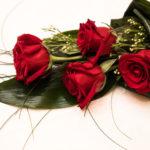 Ramo pequeño de rosas rojas
