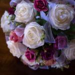 Ramo de rosas de tela